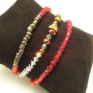 🔥2/$10🔥Red Bracelets Bundle